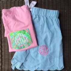 Lilly Pulitzer Pocket TShirt TinyTulip.com We're All About Personalization - Gifts Monogram Embriodery