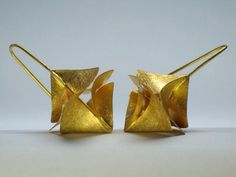 Earrings | Violetta Elisa Seliger.  Sterling silver, with fine gold coating