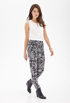 Paisley Print Pleated Pants | FOREVER21 - 2000122496