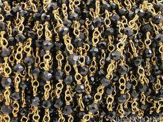 Genuine Black Spinel Wirewrapped Gemstone Rosary by Beadspoint, $5.99