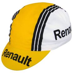 This retro cotton cap was made to match the popular Renault/Elf/Cycles Gitane Retro Jersey. The jersey is currently discontinued but we still have the cap available here.Features: Made in Italy Polyester, Cotton Cycling Accessories, White Caps, Fans, Caps Hats, Black Stripes, Retro, Cotton, How To Wear, Voici