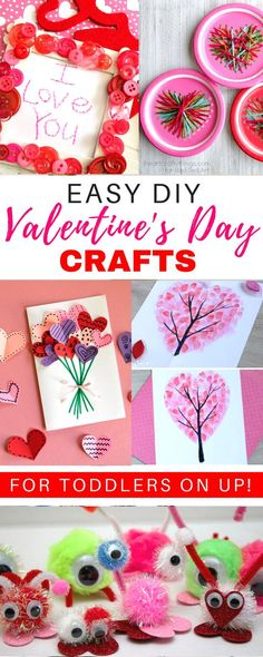 10 adorable homemade Valentine's Day DIY ideas for kids. These easy heart shaped crafts are perfect for toddlers for preschool. This list has decorations for adults for works or gifts for preschoolers for school. #valentinesday #valentinesdaycrafts
