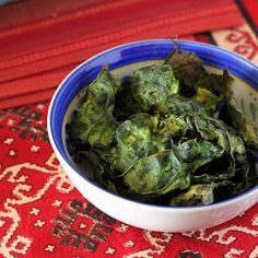 Vegan Richa: Fat-free Kale Chips with garam masala and WIAW #1. vegan glutenfree recipe
