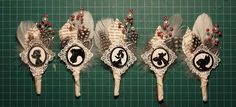 Disney pin groomsmen boutonnieres (with tutorial) - use something other than Disney for our wedding