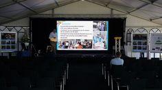 LED Scherm bij bedrijfspresentatie  http://www.grootbeeldscherm.nl/led-scherm-huren/