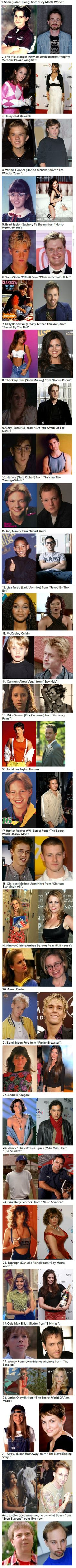 29 Of Your Childhood Crushes Then And Now -   Misc