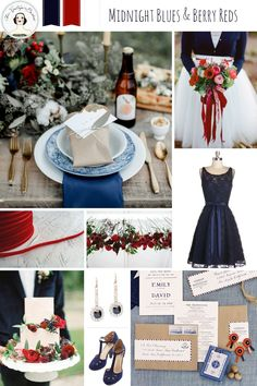 Midnight Blues and Berry Reds – Romantic Wedding Inspiration in Red, White and Blue