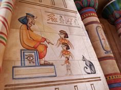 Fantastic Egyptian theming at French theme park Parc Asterix