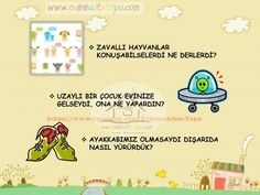 çocukların hayal gücünü geliştiren sorular (6) | Evimin Altın Topu School Teacher, Pre School, Stem Activities, Activities For Kids, Question Mark, Creative Thinking, Kids Playing, Montessori, Homeschool