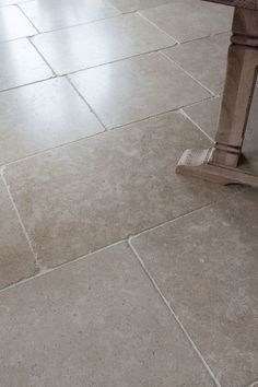 The Dijon tumbled limestone floor tiles add a truly classical English feel to a kitchen or bathroom. Order a free sample online today at Mandarin Stone! Hallway Flooring, Living Room Flooring, Kitchen Flooring, Limestone Flooring, Travertine Floors, Bathroom Floor Tiles, Tile Floor, Tumbled Marble Tile, Marble Tiles