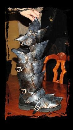 orc leather armor leg protection by ~Lagueuse on deviantART