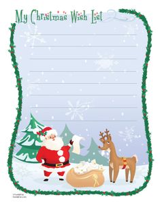Christmas Wish List (Printable Christmas Activity for Kids) | Printable Christmas Cards | FamilyFun