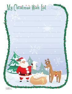 Christmas Wish List (Printable Christmas Activity for Kids) | Printable Christmas Cards | FamilyFun