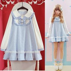 "Japanese students doll collar dress - Use code ""battytheragdoll"" for 10% off!"