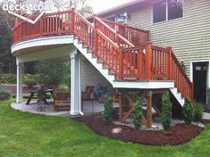 High Elevation Deck love the patio underneath!!