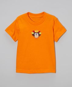Take a look at this Orange Owl Turkey Tee - Toddler & Girls by Beary Basics on #zulily today!