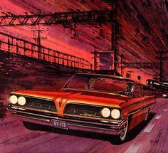 Plan59 :: Classic Car Art :: Vintage Ads :: 1961 Pontiac Bonneville