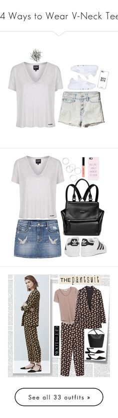 """""""24 Ways to Wear V-Neck Tees"""" by polyvore-editorial ❤ liked on Polyvore featuring waystowear, vnecktees, vnecktshirts, Topshop, Abercrombie & Fitch, NIKE, H&M, MANGO, adidas Originals and Givenchy"""