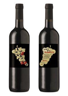 Wine labels designed by @Joshua Jenkins Jenkins Narofsky. Odd but clever PD