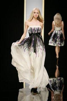 © Elie Saab - Elie Saab, vestido palabra de honor de noche