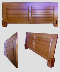 Headboard detail for Japanese platform bed. Headboard simply interlocks into the bed rails and legs. Japanese Platform Bed, Low Platform Bed, Platform Bed Frame, Wood Bed Design, Bedroom Bed Design, Tatami Bed, Solid Wood Bed Frame, Japanese Joinery, Woodworking Inspiration