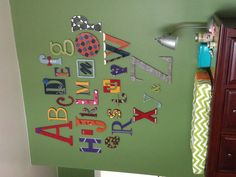 Baby Nursery Decoration. (Wooden Letters from Etsy)