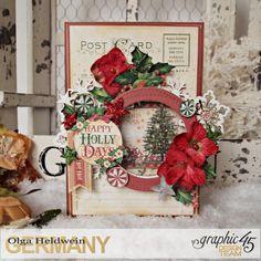 Olga November Card and tutorial ST Nicolas for Graphic 45; Dec 2016 #olga #graphic45 #christmascard