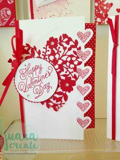Juana Ambida: Sending Love Suite - Sealed with Lov - San Valentino Idee Valentine Love Cards, Valentine Crafts, Valentine Nails, Valentine Ideas, Tarjetas Stampin Up, Stampin Up Katalog, Wedding Anniversary Cards, Stamping Up Cards, Creative Cards