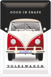 VW Bulli Good In Shape Metalen wandbord in reliëf 20x30 cm