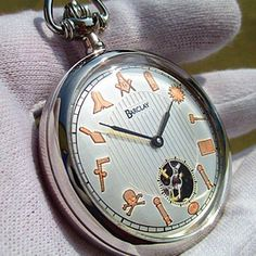 For the Freemason in your life.... Introducing The FREEMASON Pocket Watch By Barclay Watch Co. visit www.barclaywatch.com to see the newest addition to the line along with other one-of-kind watches. Contact us at sales@barclaywatch.com