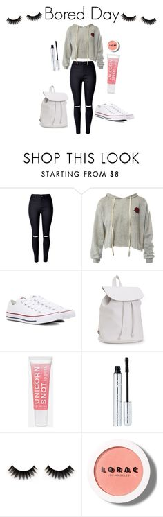 """Bored day look"" by skataewwvas on Polyvore featuring Sans Souci, Converse, Aéropostale, 100% Pure and LORAC"