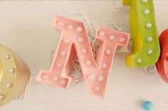 Letterlichtjes met sjablonen!