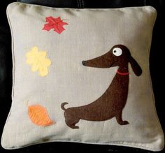 Handmade applique nursery cushion cover Jolly by NaturelandsAndCo, $30.00