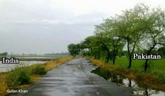 Awesome view of Indo Pak border at near Kasur