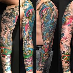 Dragon & Samurai sleeve finished today by whitedragontattoo http://instagram.com/p/u_LXSJH12S/