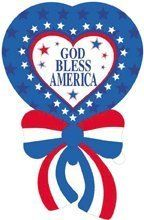 """4th Fourth of July """"God Bless America"""" 42"""" Mylar Balloon Party Decorations Supplies by Anagram, http://www.amazon.com/dp/B0087JVKAK/ref=cm_sw_r_pi_dp_UruLvb0DYPYNM"""