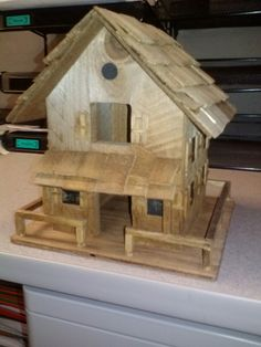 Cabin Bird house by Jeff Snow
