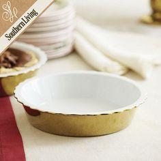 gold pie dish