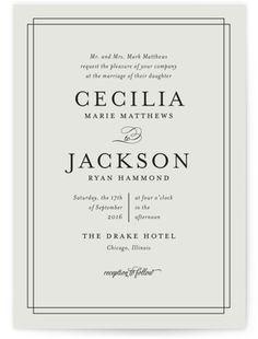 Elegant Wedding Invitations   Minted
