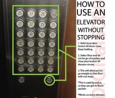 valuable life lessons can sometimes be about elevators, right?