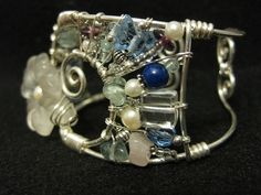 Wire Wrapped Cuff With Reconstructed Jewelry Parts ∙ Creation by Diver on Cut Out + Keep