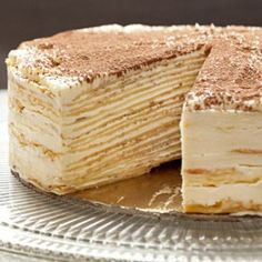 Mille-Crepe Tiramisu Birthday Cake Recipe | Tasting Table