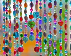 Beaded curtain Bead Curtain Bohemian Curtain Window