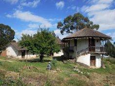 In 1883 future Emperor Menelik II and Empress Taitu of Ethiopia moved into this palace in the Entoto Mountains above Addis Ababa. Some years later the current city was founded in the valley below.