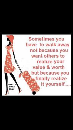 Just walk away...