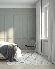 Helsingö wardrobe designs by scandi designers and traditional craftsmanship. Built on IKEA cabinets because taste isn't equal to high price. Bedroom Built In Wardrobe, Ikea Wardrobe, Bedroom Closet Design, Wardrobe Doors, Bedroom Storage, Wardrobe Design, Scandi Bedroom, Home Bedroom, Bedroom Decor