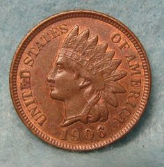 1906 INDIAN HEAD PENNY CHOICE AU Original Mint Luster * US Coin #3206