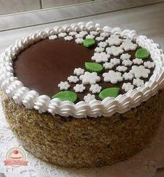 Házi diótorta Yummy Cakes, Tiramisu, Cake Recipes, Chicken Recipes, Food And Drink, Fondant, Vegan, Chocolate, Baking