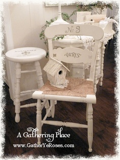 DIY::WHITE FRENCH PAINTED FINDS