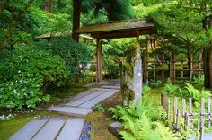 Japanese arch with a stone pathway | Flickr - Photo Sharing!